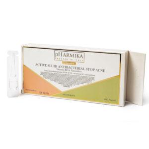 Ампулы антибактериальные STOP ACNE с витамином В3 и наносеребром, 10х2,5мл